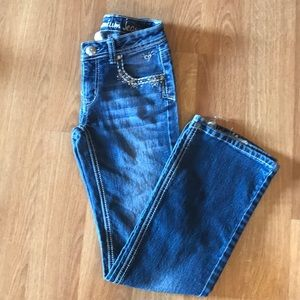Size 12s girls Justice jeans
